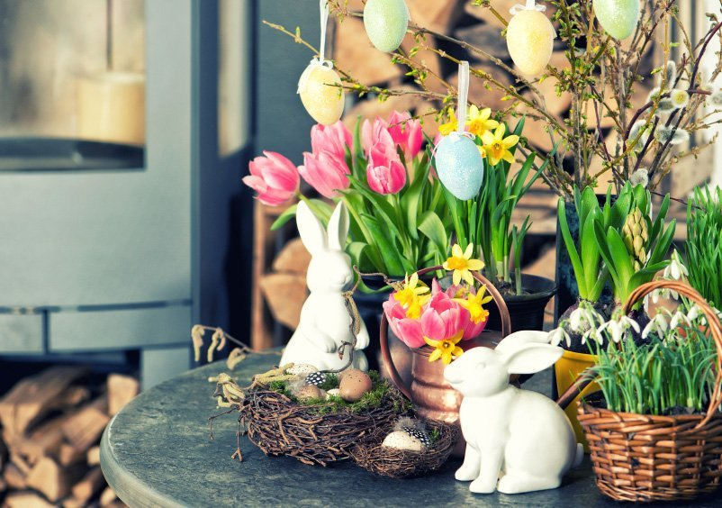 Easter Entryway Decorations