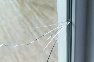 Cracked Window Glass